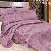 "КПБ Cleo ""Royal Jacquard"" евро 200*220*1 230*250*1 50*70*2+5см 70*70*2 31/005-RG, цвет фиолетовый, Евро - Cleo"