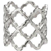 """Кольцо для салфетки 5см """"Решетка"""" (серебро) - Harman"""
