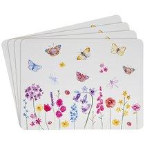 Подставки на пробке средние Сад бабочек 30х23см (4шт) - Lesser & Pavey