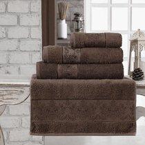 "Полотенце бамбуковое ""KARNA"" PANDORA 90x150 см 1/1, цвет темно-коричневый, 90x150 - Bilge Tekstil"