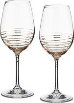 Набор бокалов для вина из 2 шт. SPIRAL 350 мл ВЫСОТА=22 СМ. - Crystalex