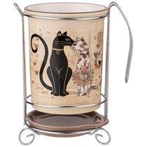 Подставка Под Кухонные Приборы Парижские Коты 10,5x10,5x16 см - Huachen Ceramics