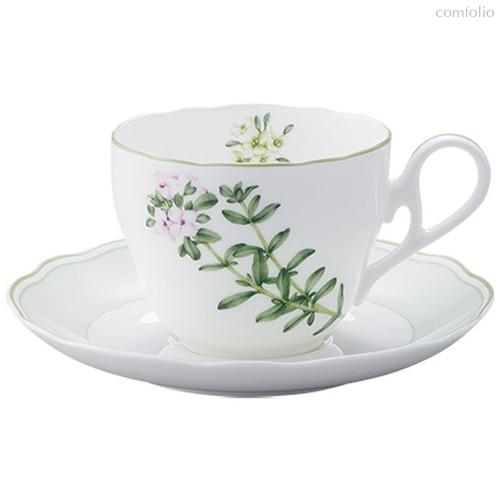 """Чашка чайная с блюдцем 250мл """"Английские травы"""" - Noritake"""