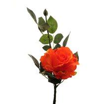 Роза Лимбо с почкой оранжево-красная 30 см живое прикосновение (36 шт.в упак.) - Top Art Studio