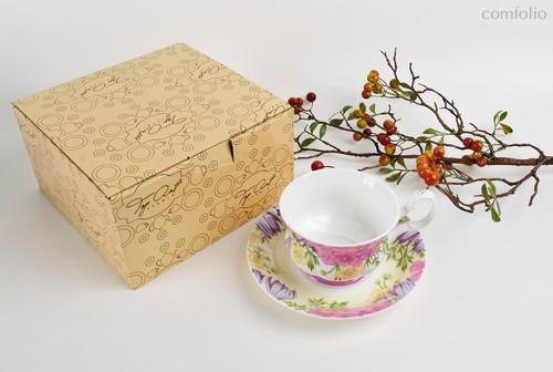Чайная пара для завтрака Вальс цветов 400 мл - Top Art Studio