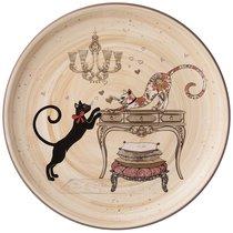 Тарелка Парижские Коты 21x21 см Высота 2,5 см - Huachen Ceramics