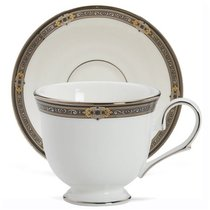 """Чашка чайно-кофейная с блюдцем 180мл """"Классические ценности"""" - Lenox"""