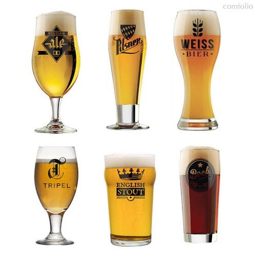 Набор пивных бокалов l'Hedoniste 6шт., цвет прозрачный - Balvi