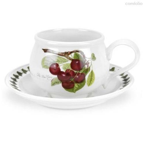 """Чашка для завтрака с блюдцем Portmeirion """"Помона. Вишня"""" 270мл - Portmeirion"""