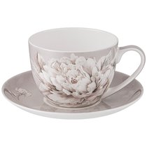 Чайная Пара Lefard White Flower 2Пр. 330 мл Серая - Jinding
