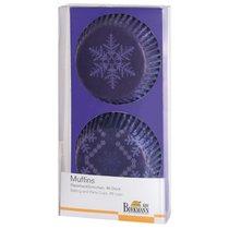 """Набор бумажных подложек под выпечку Birkmann """"Новый год"""" 7см, 48 шт (фиолетовый) - Birkmann"""