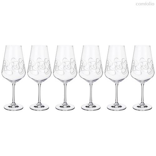 Набор бокалов для вина из 6 шт. SANDRA 550 мл ВЫСОТА=25 СМ. (КОР=1Набор.) - Crystalex