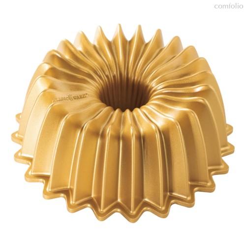 Форма для выпечки 3D Nordic Ware Блеск 1,2л, литой алюминий (золотая) - Nordic Ware