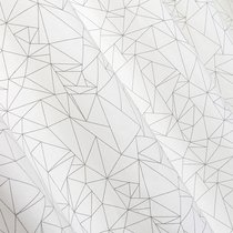 Ткань хлопок Оригами ширина 280 см, 3019/1, цвет белый/черный - Altali