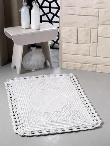 """Коврик для ванной """"MODALIN"""" кружевной FLORA 55x90 см 1/1, цвет кремовый, 55x90 - Bilge Tekstil"""