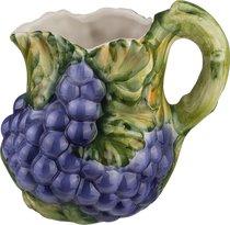 Кувшин Виноград 1400 мл Высота 19 см - Ceramiche d'Arte F.L.