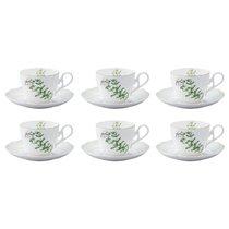 """Набор из 6 чашек чайных с блюдцами Noritake """"Английские травы"""" 250мл - Noritake"""