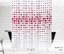 Шторы Evdy Drop для ванной, цвет бордовый, 180x200 - Beytug textile