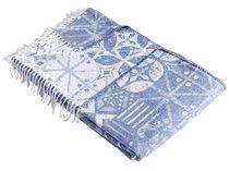"Плед KARNA хлопок ""DECO"" ( Голубой ) 220x240 см, цвет голубой, 220 x 240 - Bilge Tekstil"