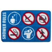 Коврик для ванной Shower Rule, цвет синий - Balvi
