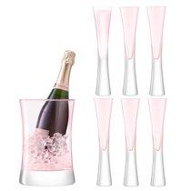Набор для сервировки шампанского Moya малый, розовый - LSA International
