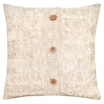 "Вязаный чехол для подушки ""Банджамино"", 45х45 см, 02-V602/1, цвет бежевый - Altali"