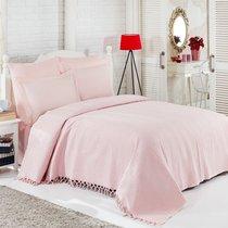 КПБ с Покрывалом DO&CO Ранфорс 220*240 (50*70/2) (70*70/2) ORIENTAL, цвет розовый - Meteor Textile