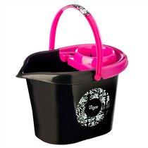 пластмассовое ведро 12л Rococco pink - Vigar