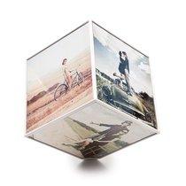 Держатель для фотографий вращающийся Kube 15x15, цвет белый - Balvi