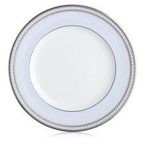 "Тарелка закусочная Noritake ""Трефолио,платиновый кант"" 22см - Noritake"