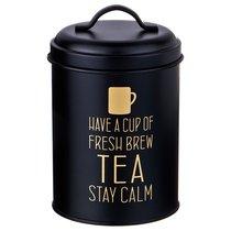 Емкость Agness Черное Золото Для Сыпучих Продуктов Чай Диаметр 11см Высота 15,5см - SunWay (China3way)