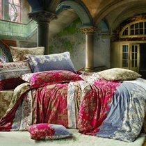 Комплект постельного белья С-144, цвет красный, размер 1.5-спальный - Valtery