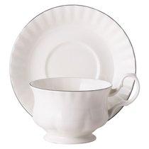 Чайная пара для завтрака Платиновый берег 400 мл - Top Art Studio