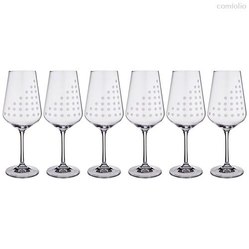 Набор бокалов для вина из 6 шт. SANDRA 450 мл ВЫСОТА=24 СМ - Crystalex