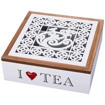 Шкатулка Для Чая 9-Ти Секционная 24x24 см Высота 8 см - Polite Crafts&Gifts