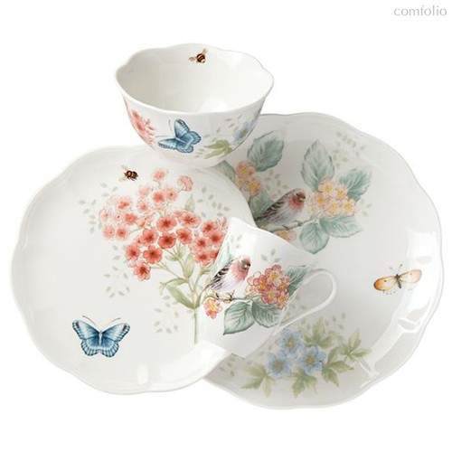 """Сервиз чайно-столовый Lenox """"Бабочки на лугу.Птицы.Зяблик"""" на 1 персону 4 предмета - Lenox"""