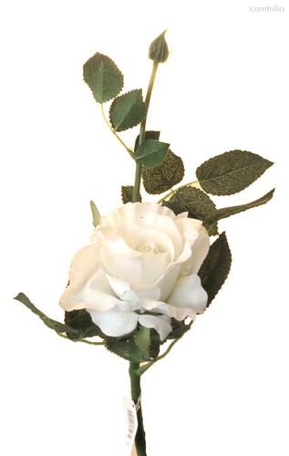 Роза Лимбо с почкой белая 30 см живое прикосновение (36 шт.в упак.) - Top Art Studio