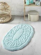 """Коврик для ванной """"MODALIN"""" овальная WENGE 50x80 см 1/1, цвет зеленый, 50x80 - Bilge Tekstil"""