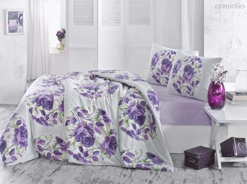 Постельное белье Ranforce Adrina, цвет сиреневый, размер 1.5-спальный - Altinbasak Tekstil