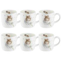 """Набор кружек Royal Worcester """"Забавная фауна"""",""""Полевые мышки"""" 310мл, 6шт, костяной фарфор - Royal Worcester"""