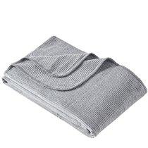 "Плед KARNA хлопок однотонный ""OSLO"" 150x200 см, цвет серый, 150 x 200 - Bilge Tekstil"