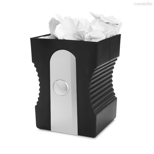 Корзина для бумаг Sharpener черная, цвет черный - Balvi