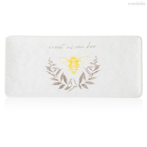 Блюдо прямоугольное Certified Int. Пчелки 28x12см, керамика - Certified International