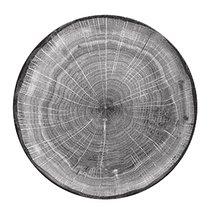 Тарелка круглая 29 cм, серия WOODART, цвет серый - RAK Porcelain