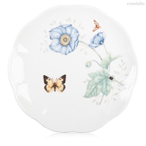 "Тарелка акцентная Lenox ""Бабочки на лугу.Бабочка-Монарх"" 23см, цвет зеленый, 23 см - Lenox"