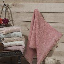 """Полотенце махровое """"KARNA"""" ESRA (70x140) см 1/1, цвет пудра, 70x140 - Bilge Tekstil"""