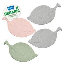 Набор подставок LEAF-ON Organic 4шт серый/розовый/зеленый - Koziol