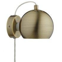 Лампа настенная Ball, античная латунь, матовое покрытие - Frandsen