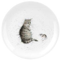 "Тарелка закусочная Royal Worcester ""Забавная фауна"",""Кот и мышь"" 20см, костяной фарфор - Royal Worcester"