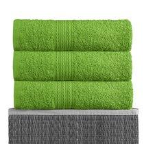 Зеленая 150х210 Простыня Махровая BAYRAMALY, цвет зеленый, 150x210 - Bayramaly